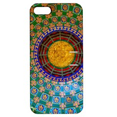 Temple Abstract Ceiling Chinese Apple iPhone 5 Hardshell Case with Stand