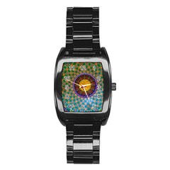Temple Abstract Ceiling Chinese Stainless Steel Barrel Watch