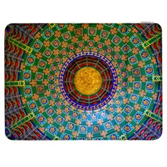 Temple Abstract Ceiling Chinese Samsung Galaxy Tab 7  P1000 Flip Case