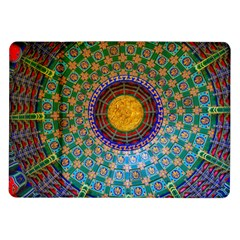 Temple Abstract Ceiling Chinese Samsung Galaxy Tab 10.1  P7500 Flip Case