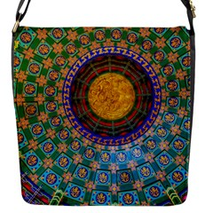 Temple Abstract Ceiling Chinese Flap Messenger Bag (S)