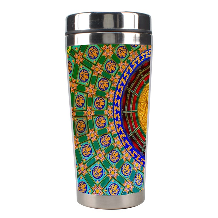 Temple Abstract Ceiling Chinese Stainless Steel Travel Tumblers