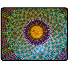 Temple Abstract Ceiling Chinese Double Sided Fleece Blanket (medium)