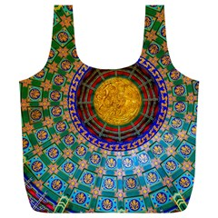 Temple Abstract Ceiling Chinese Full Print Recycle Bags (l)