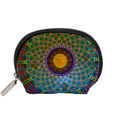 Temple Abstract Ceiling Chinese Accessory Pouches (small)