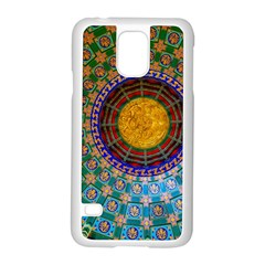 Temple Abstract Ceiling Chinese Samsung Galaxy S5 Case (white)
