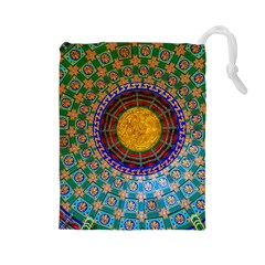Temple Abstract Ceiling Chinese Drawstring Pouches (Large)