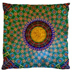 Temple Abstract Ceiling Chinese Large Flano Cushion Case (One Side)
