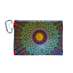 Temple Abstract Ceiling Chinese Canvas Cosmetic Bag (m)