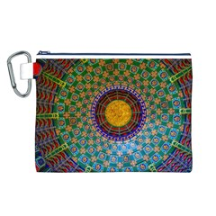 Temple Abstract Ceiling Chinese Canvas Cosmetic Bag (L)