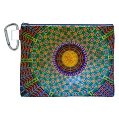 Temple Abstract Ceiling Chinese Canvas Cosmetic Bag (XXL)