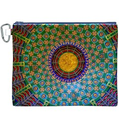 Temple Abstract Ceiling Chinese Canvas Cosmetic Bag (XXXL)