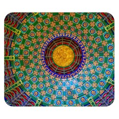 Temple Abstract Ceiling Chinese Double Sided Flano Blanket (Small)