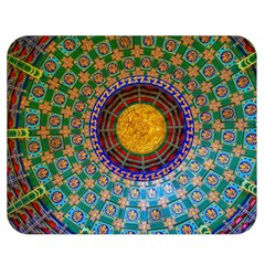 Temple Abstract Ceiling Chinese Double Sided Flano Blanket (Medium)