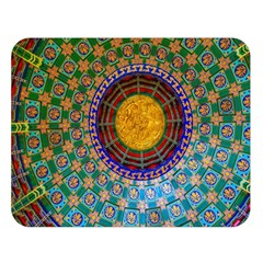 Temple Abstract Ceiling Chinese Double Sided Flano Blanket (Large)