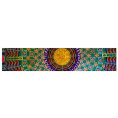 Temple Abstract Ceiling Chinese Flano Scarf (Small)