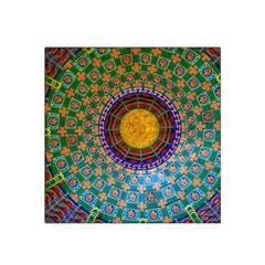 Temple Abstract Ceiling Chinese Satin Bandana Scarf