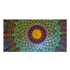 Temple Abstract Ceiling Chinese Satin Shawl