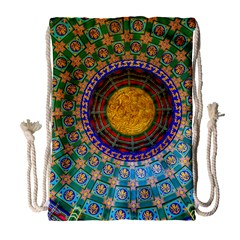 Temple Abstract Ceiling Chinese Drawstring Bag (large)