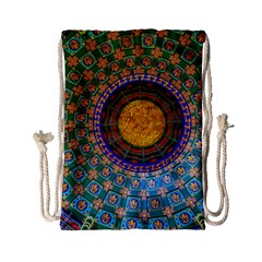 Temple Abstract Ceiling Chinese Drawstring Bag (Small)