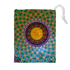 Temple Abstract Ceiling Chinese Drawstring Pouches (Extra Large)