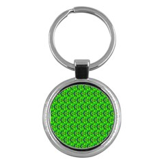 Abstract Art Circles Swirls Stars Key Chains (round)