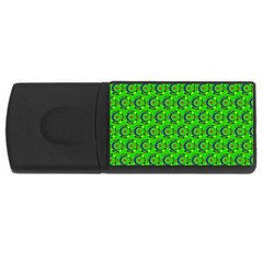 Abstract Art Circles Swirls Stars USB Flash Drive Rectangular (4 GB)