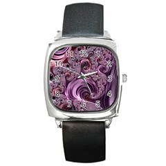 Abstract Art Fractal Art Fractal Square Metal Watch