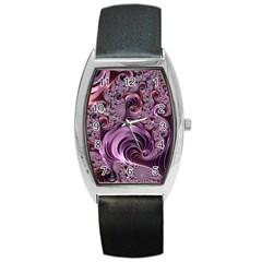 Abstract Art Fractal Art Fractal Barrel Style Metal Watch
