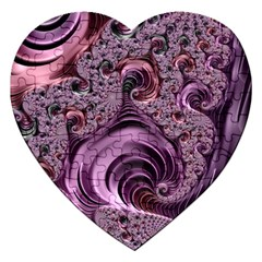 Abstract Art Fractal Art Fractal Jigsaw Puzzle (heart)
