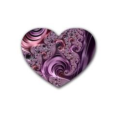 Abstract Art Fractal Art Fractal Rubber Coaster (heart)