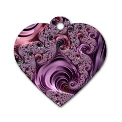 Abstract Art Fractal Art Fractal Dog Tag Heart (two Sides)