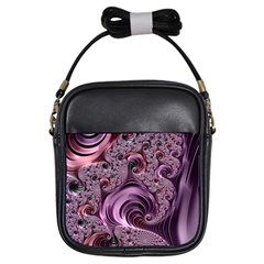 Abstract Art Fractal Art Fractal Girls Sling Bags