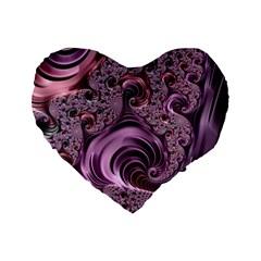 Abstract Art Fractal Art Fractal Standard 16  Premium Heart Shape Cushions