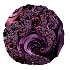 Abstract Art Fractal Art Fractal Large 18  Premium Flano Round Cushions