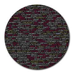 Full Frame Shot Of Abstract Pattern Round Mousepads