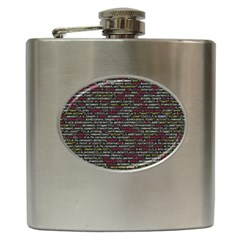 Full Frame Shot Of Abstract Pattern Hip Flask (6 Oz)