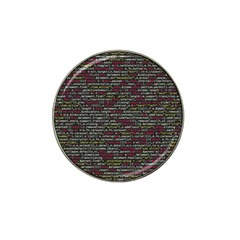 Full Frame Shot Of Abstract Pattern Hat Clip Ball Marker (4 Pack)