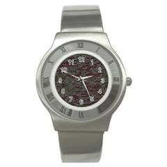 Full Frame Shot Of Abstract Pattern Stainless Steel Watch