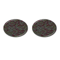 Full Frame Shot Of Abstract Pattern Cufflinks (oval)
