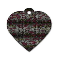 Full Frame Shot Of Abstract Pattern Dog Tag Heart (two Sides)