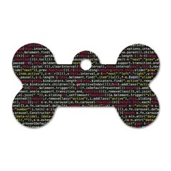 Full Frame Shot Of Abstract Pattern Dog Tag Bone (One Side)