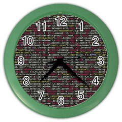 Full Frame Shot Of Abstract Pattern Color Wall Clocks