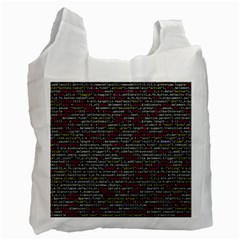 Full Frame Shot Of Abstract Pattern Recycle Bag (two Side)