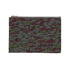 Full Frame Shot Of Abstract Pattern Cosmetic Bag (large)