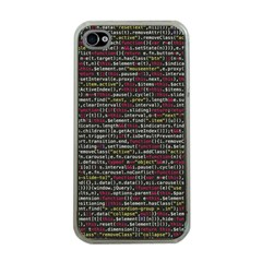 Full Frame Shot Of Abstract Pattern Apple iPhone 4 Case (Clear)