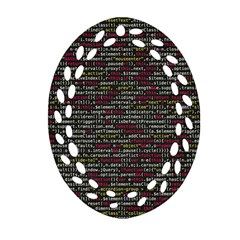 Full Frame Shot Of Abstract Pattern Oval Filigree Ornament (two Sides)