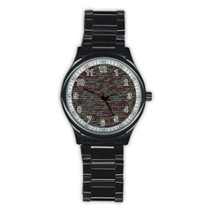 Full Frame Shot Of Abstract Pattern Stainless Steel Round Watch