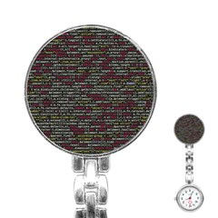 Full Frame Shot Of Abstract Pattern Stainless Steel Nurses Watch