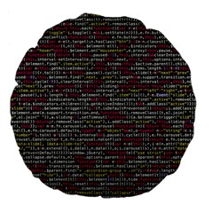 Full Frame Shot Of Abstract Pattern Large 18  Premium Flano Round Cushions